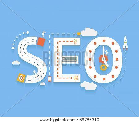 SEO, internet searching optimization process