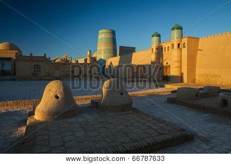 Oriental buildings in the city of Khiva. Uzbekistan