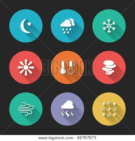Set of meteorological icons