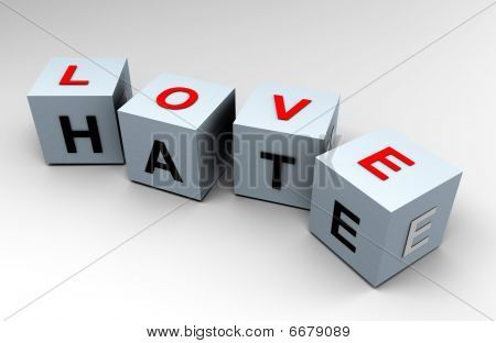 Love and Hate, closer than you think - 3d image