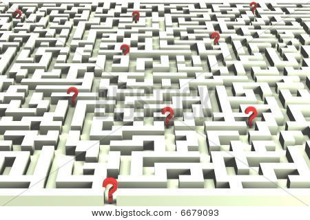 Lost in the labyrinth of decisions - 3D image
