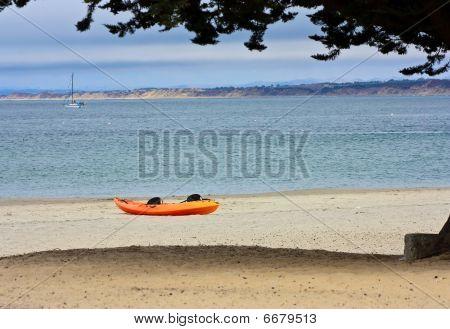 kayak on a beach