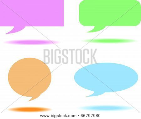 shape Speech bubbles box color