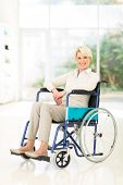 pic of handicap  - handicapped middle aged woman sitting in wheelchair - JPG