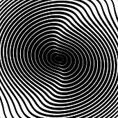 image of uncolored  - Design monochrome whirl circular motion background - JPG