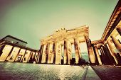 picture of illuminating  - Brandenburg Gate - JPG