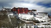 pic of winter palace  - Exterior of holy Potala Palace in Lhasa - JPG