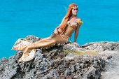 pic of fairy tail  - mermaid on the rock - JPG