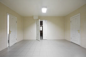 picture of medical office  - Empty hospital hall with closed and opened doors - JPG