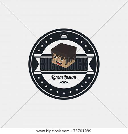 block cartoon character