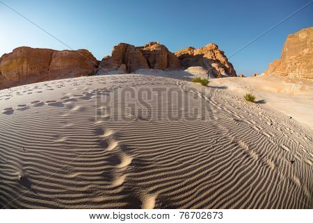 Desert and stone mountains. Sinai, Egypt