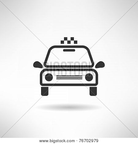 Taxi cab simple icon silhouette. Vector