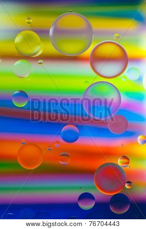 Oil  On Water Colorful Beautiful