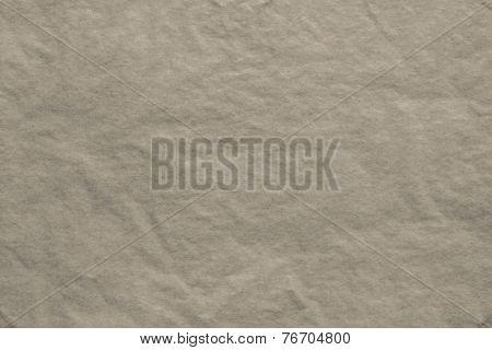 Texture Of Thin Crumpled Dark-beige Paper