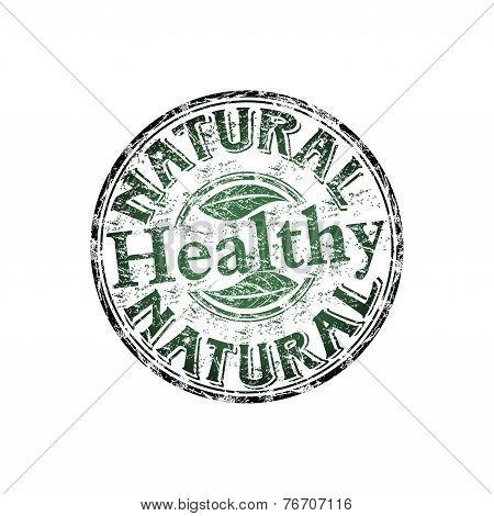Natural healthy grunge rubber stamp