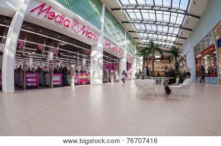 Samara, Russia - November 16, 2014: Inside Of The Samara Hypermarket Ambar. The One Of Largest Shopp