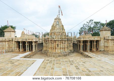 Temple In Massive Chittorgarh Fort And Grounds Rajasthan India