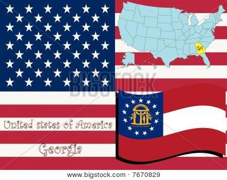 Ilustración del estado de Georgia