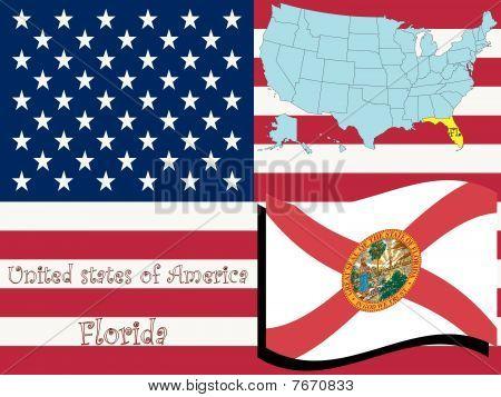 Ilustración de estado de la Florida