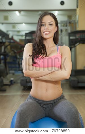 Portrait Of Happy Young Woman Ready For Her Workout