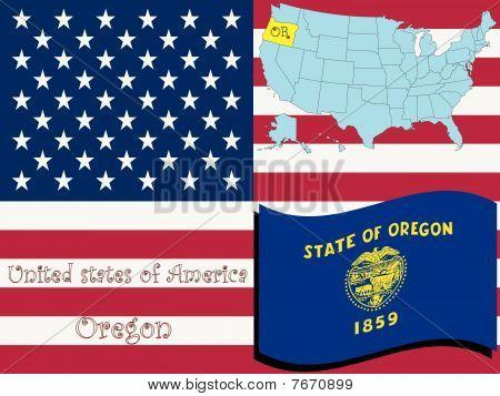 Ilustración del estado de Oregon
