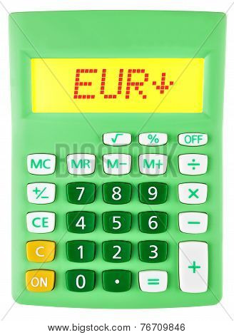 Calculator With Eur On Display