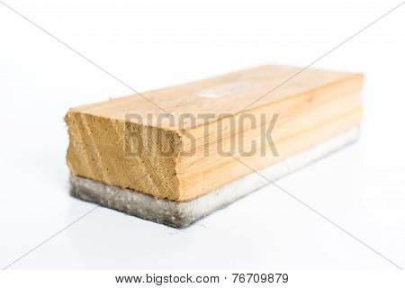 Close Up Eraser Board On White Background