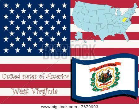 Ilustración del estado de Virginia Occidental