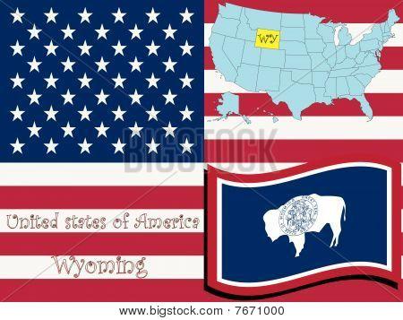 Ilustración del estado de Wyoming