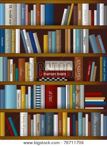 Books background. Realistic vector illustration.