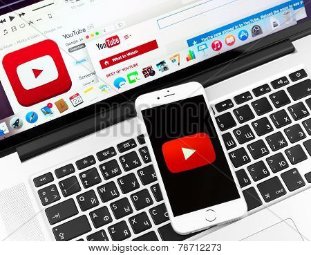 Youtube On Apple Iphone 6 Device Display