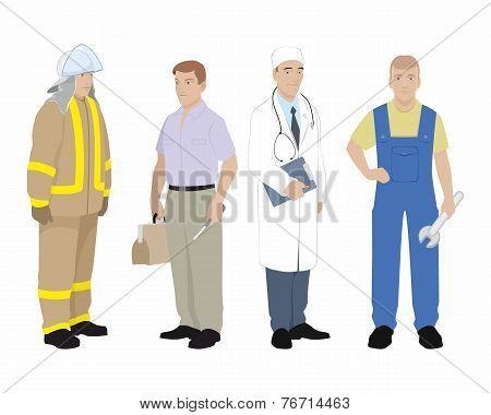 Four Professionals Man
