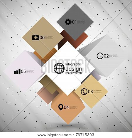 infographic cube box for business concepts, modern template vector