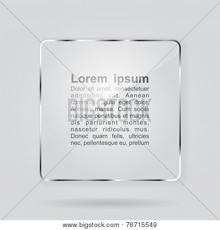 Glass framework on gray background. Vector