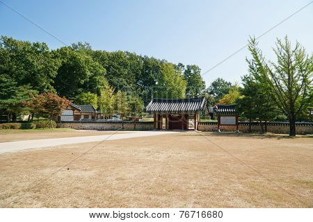 Paju, Korea - October 05, 2014: Entrance Of Bangujeong