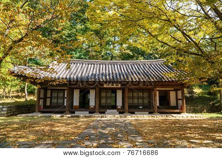 Paju, Korea - October 05, 2014: Kyeongmojae In Bangujeong