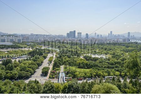 Seoul, Korea - August 30, 2014: World Cup Park
