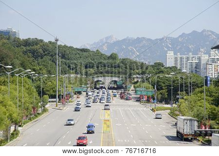 Seoul, Korea - August 30, 2014: World Cup Tunnel