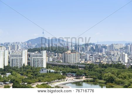 Seoul, Korea - August 30, 2014: World Cup Park And View Of Mapo