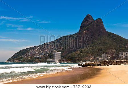 Ipanema Beach on Sunny Summer Day