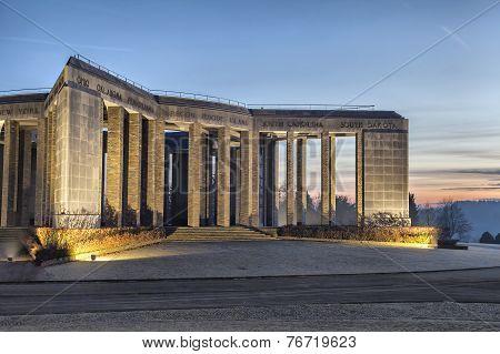 World War Ii Memorial In Bastogne, Belgium