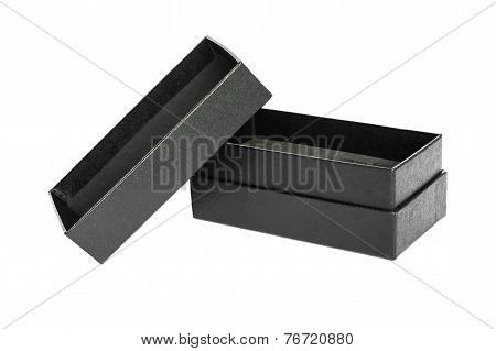 Empty Black Gift Box