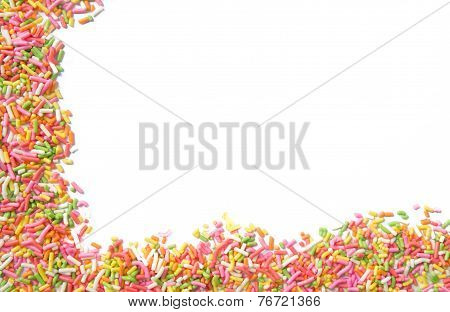 Candy Sprinkles Frame Background