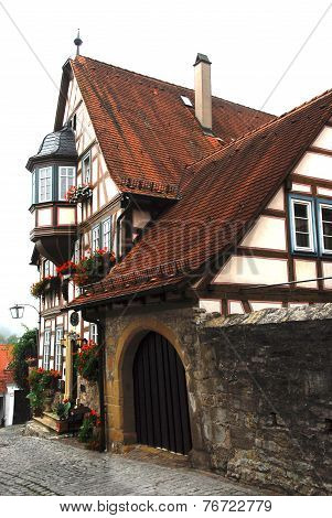 Historic half-timbered building in Bad Wimpfen