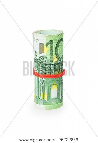Bank Roll Of Euro Bills