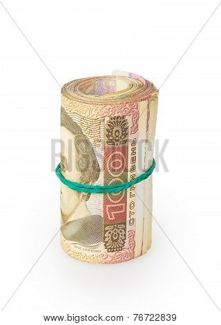 Bank Roll Of Ukrainian Hryvnia