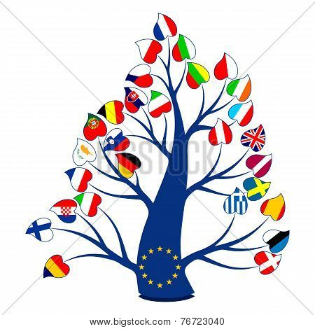 Flags On The Tree