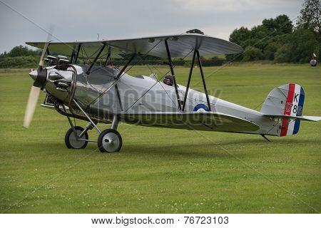 Vintage Hawker Tomtit Bi-plane