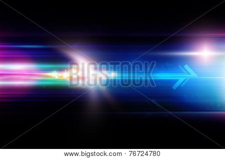Abstract Background With Arrow