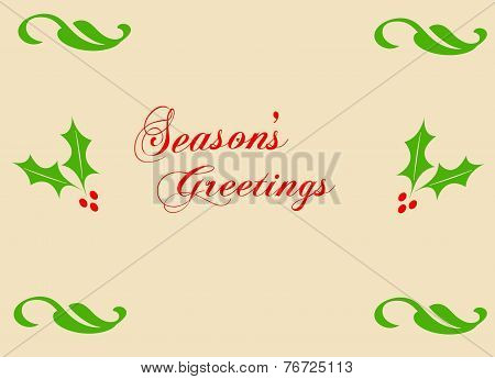 Season's Greetings Card 01